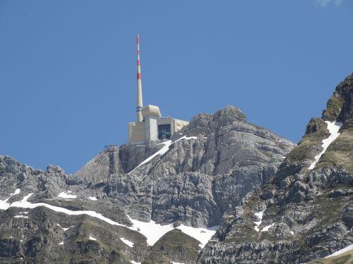 säntis mountain peak mountain world