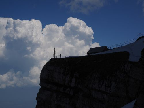 säntis viewpoint clouds