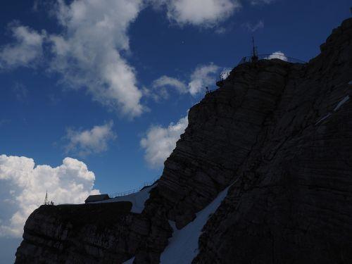 säntis summit area weather station