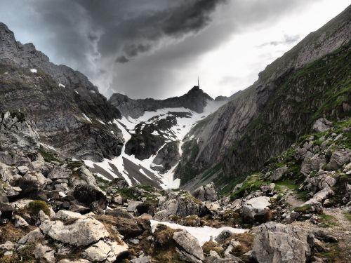 säntis valley mountain valley