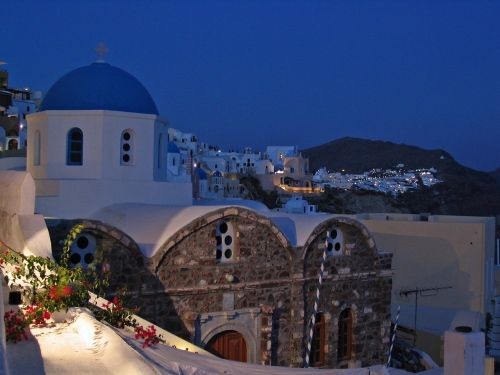 santorini oia night