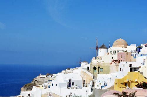 santorini greece white houses