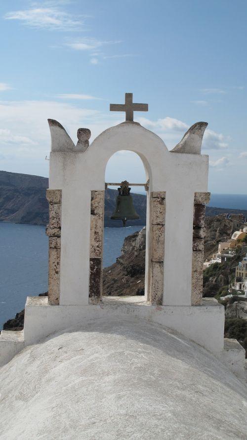 santorini church archway