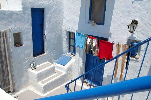 santorini house white