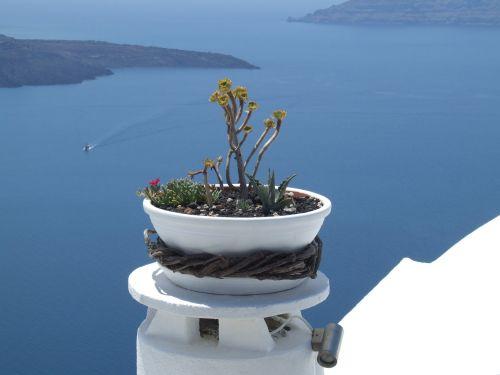 santorini greece vase