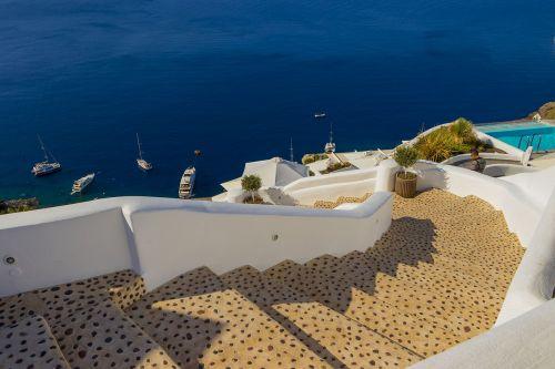 santorini greece landscape