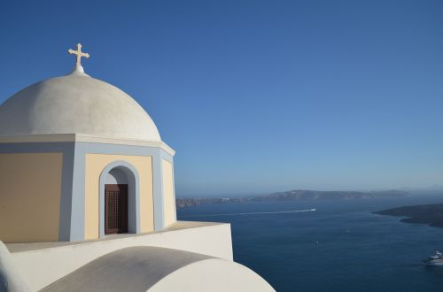 santorini cross ocean