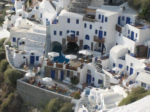 santorini white homes