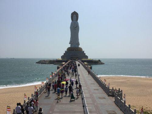 sanya nanshan temple the south china sea goddess of mercy