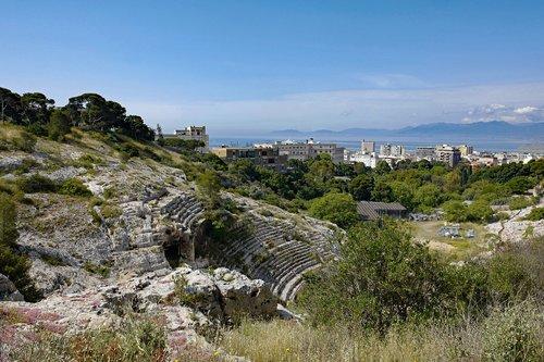 sardinia  cagliari  the roman amphitheatre