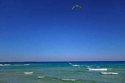 sardinia  kite surfing  kitesurfer