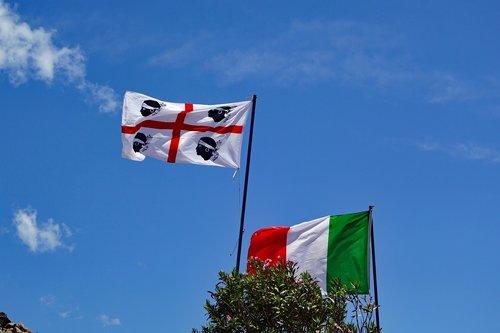 sardinia flag  sky