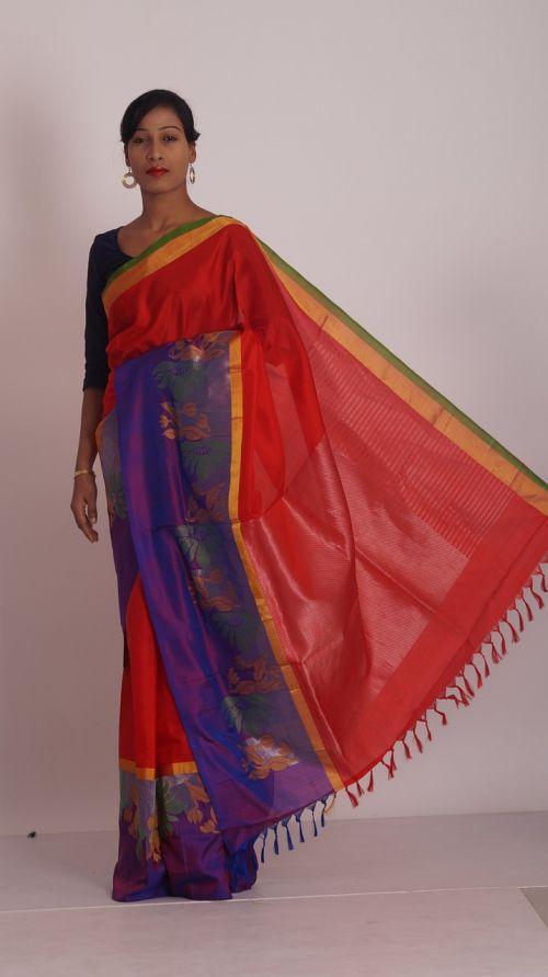 sarees blue color saris womens wear