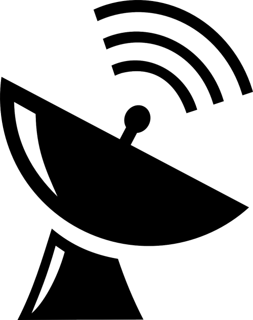 satellite dish parabolic mirror sending