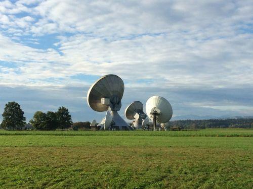 satellite dish radar dish radar