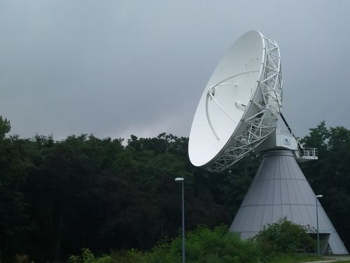 satellite dish telecommunications satellite