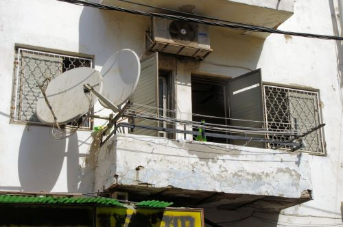 Satellite Dish On Balcony