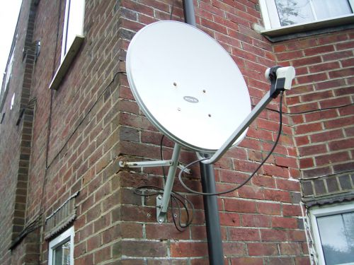 Satellite Dish On Building