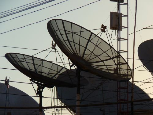satellite dishes radio antenna