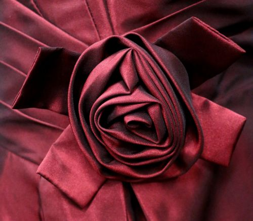 satin fabric rose