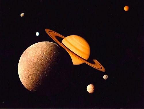 saturn planet monde