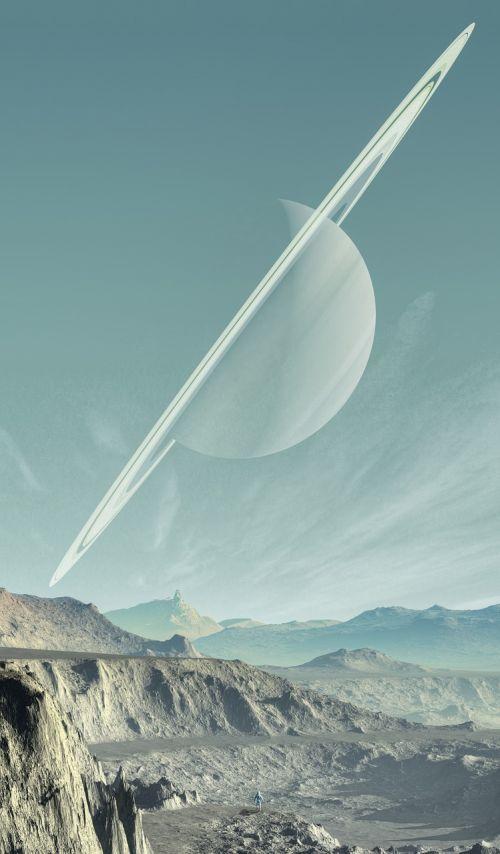 saturn landscape planet