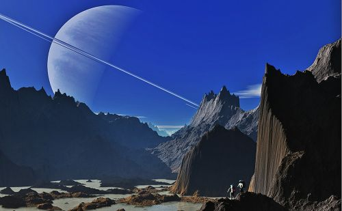 saturn landscape mountains
