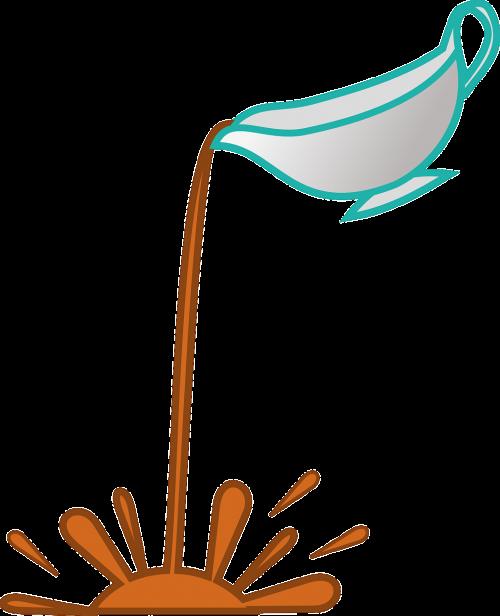 sauce pouring pot