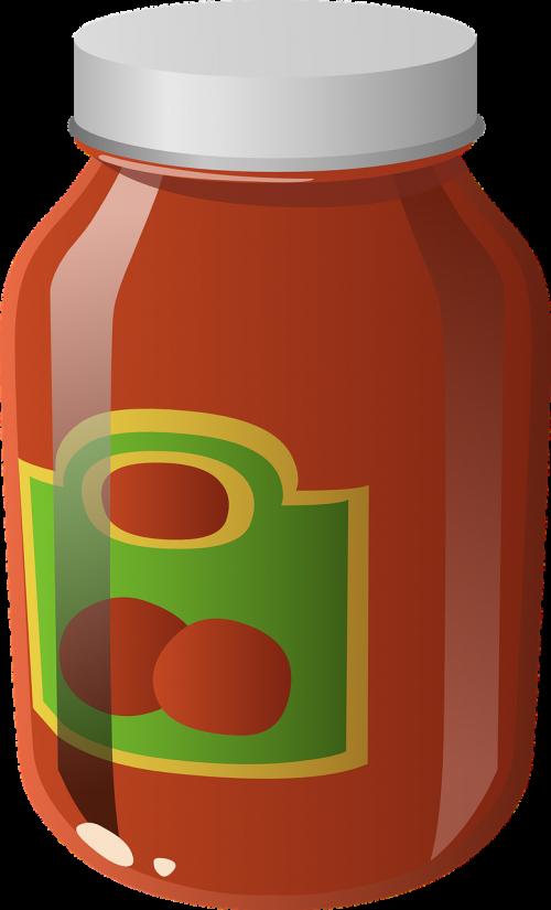 sauce jar food