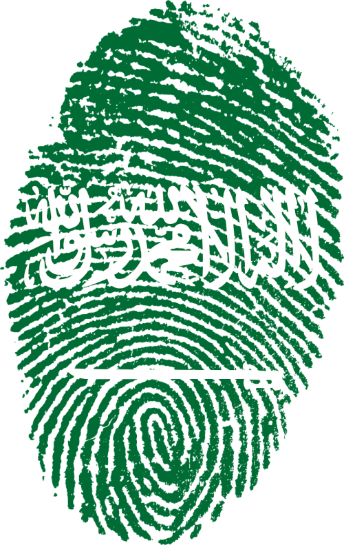 saudi arabia flag fingerprint