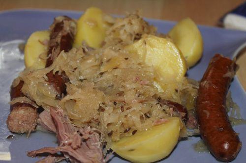 sauerkraut sausage potato