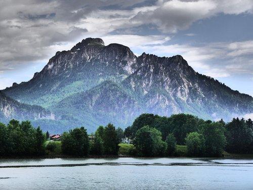 säuling  allgäu  lake forggensee
