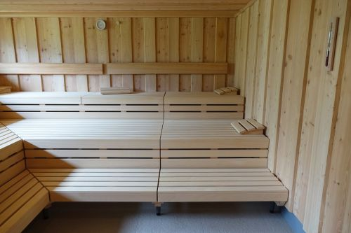 sauna sweat wood