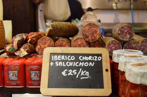 sausage  iberian chorizo  paella