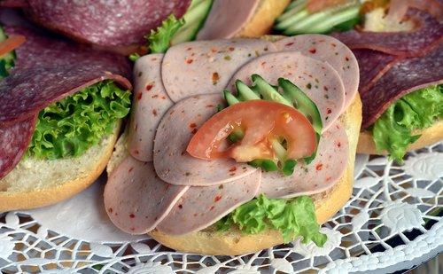 dešra, užkandžių, Roll, dešra duona, šviežia dešra, saliamis, dekoratyvinis, gražus, valgyti, maisto, mitybos, Vakarinių, bado, skanus, skanus, esminis, agurkas, konservuota mėsa, patrauklus