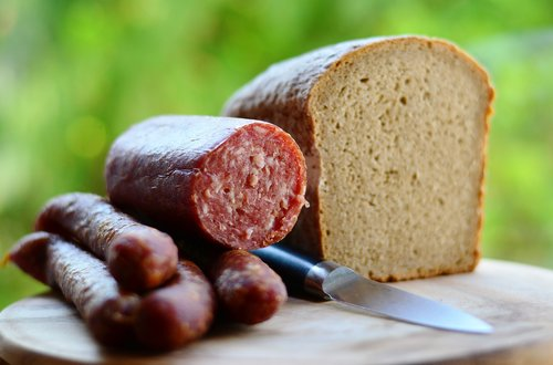 sausage  mettwurst  cured meats