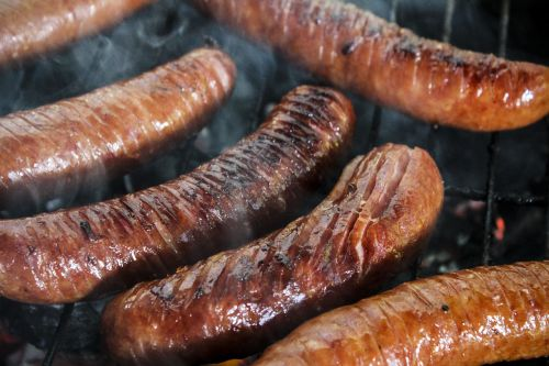 sausage grill barbecue at the