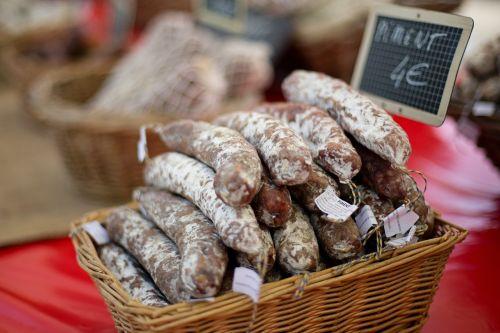 sausages meat farmer's market