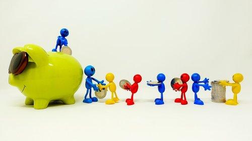 save  piggy bank  teamwork