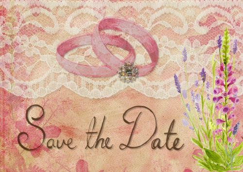 save the date wedding rings