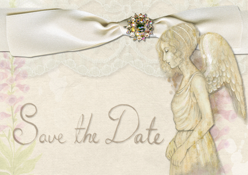 save the date wedding angel