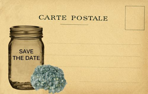 Save The Date Vintage Card