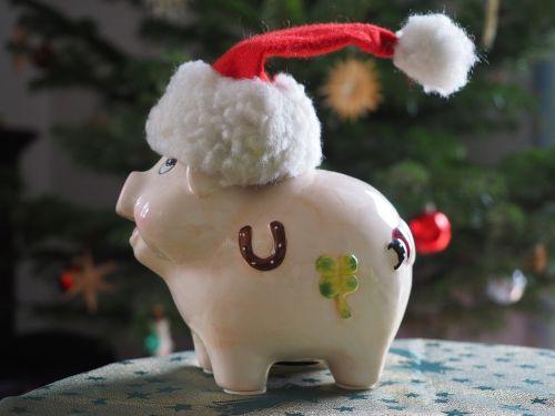 savings bank christmas savings pig