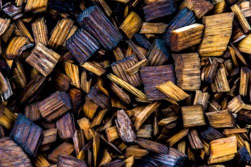 sawdust closeup wood residue