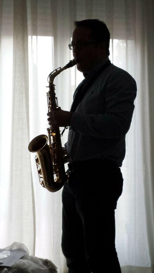 sax music backlight