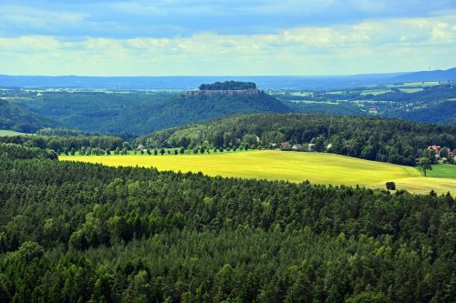 saxon switzerland hiking rock