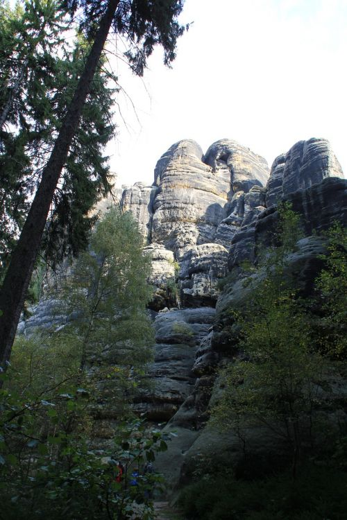 saxon switzerland rock mountains