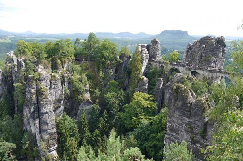 saxon switzerland bastei sandstone