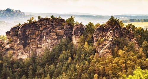 saxon switzerland rock landscape