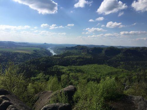 saxon switzerland elbe landscape